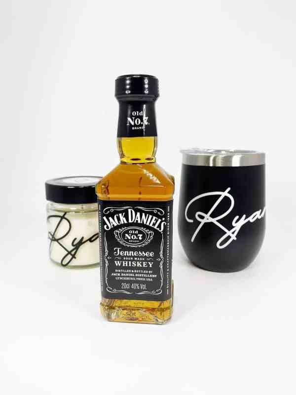 Personalised Tumbler, Whiskey Glass and Whiskey Bottle