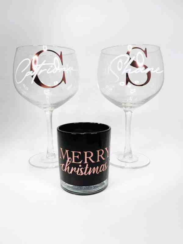 Personalised Gin Glass Set
