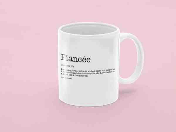 Fiancée Dictionary Definition Mug
