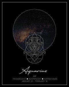 Aquarius Zodiac Print