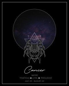 Cancer Zodiac Print