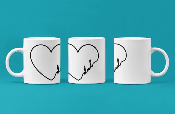 Dad Heart Mug