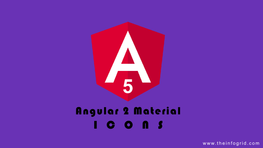 Material Icons with Angular 5