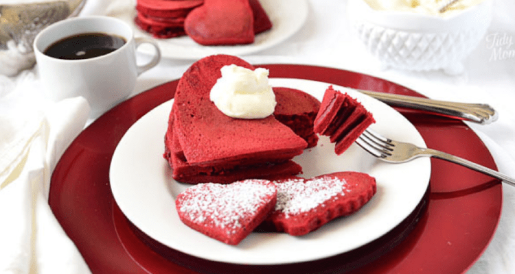 Red Velvet Pancakes EASY Recipe For Valentines Day AMAZING