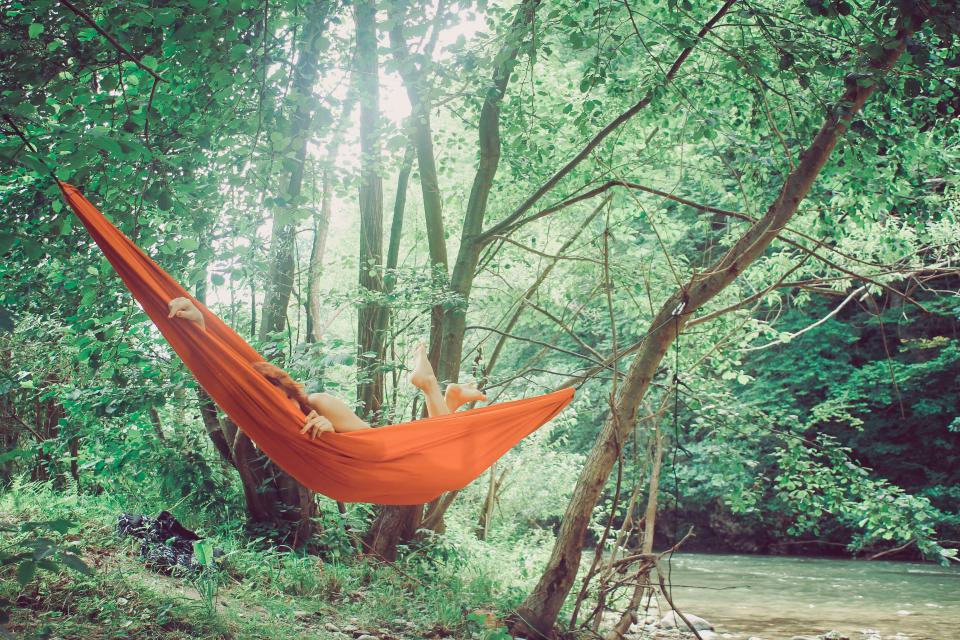 Weird Russian Things, people woman hammock nature river trees green woods forest sexy