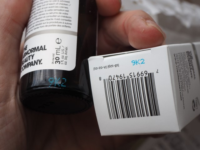 Genuine The Ordinary- The batch codes should match