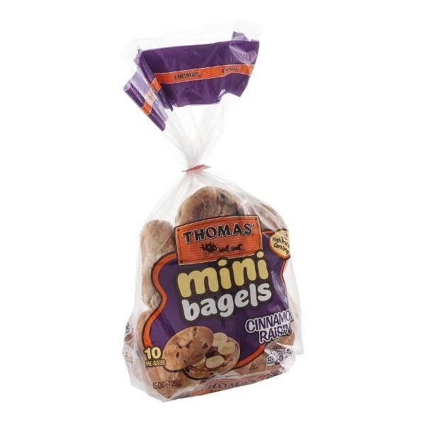 Thomas Mini Bagels Cinnamon Raisin 10 Count from Fairway