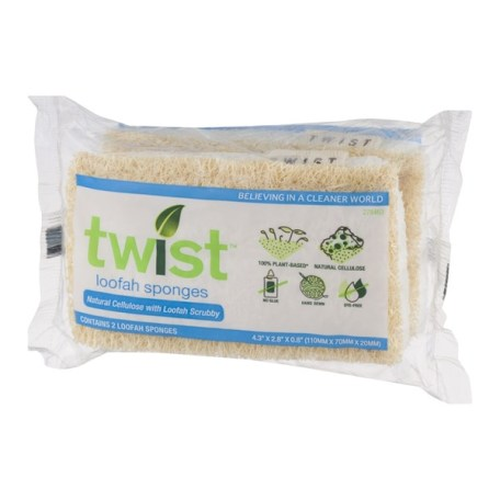 Twist Loofah Sponges - 2 CT