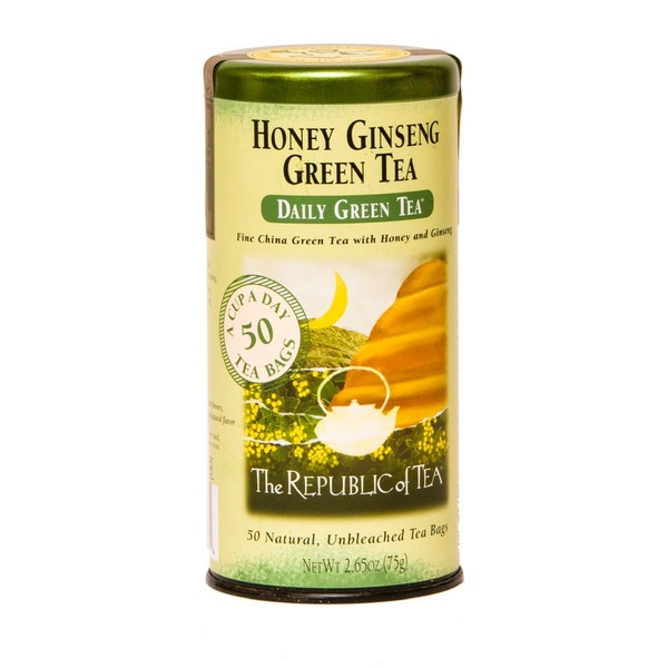 The Republic of Tea Honey Ginseng Daily Green Tea from