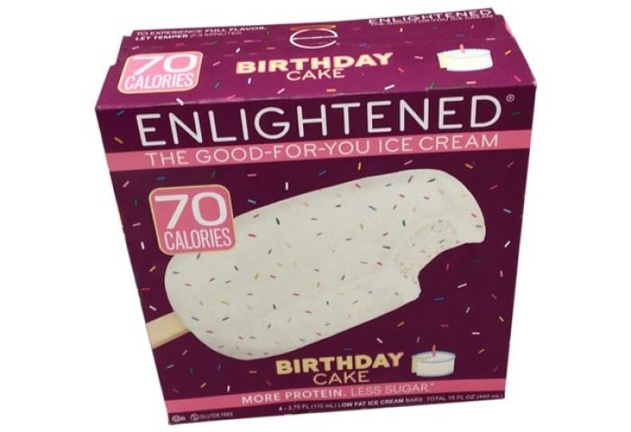 Enlightened Birthday Cake Low Fat Ice Cream Bars 375 Fl Oz From