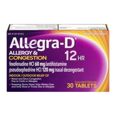 Image result for allegra d 12 hour medicine