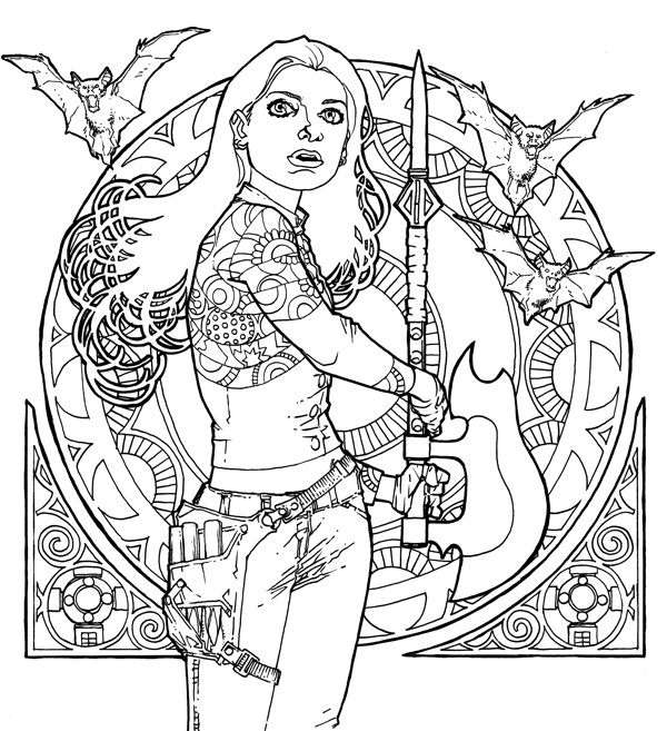buffy the vampire slayer adult coloring book  profile
