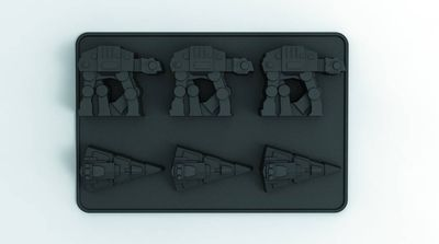 Star Wars At-at & Star Destroyer Ice Cube Tray @TFAW.com