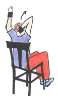 seated triceps lift exercise