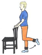 standing knee flexion exercise