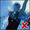 swimming - not a good exercise to help improve bone strength