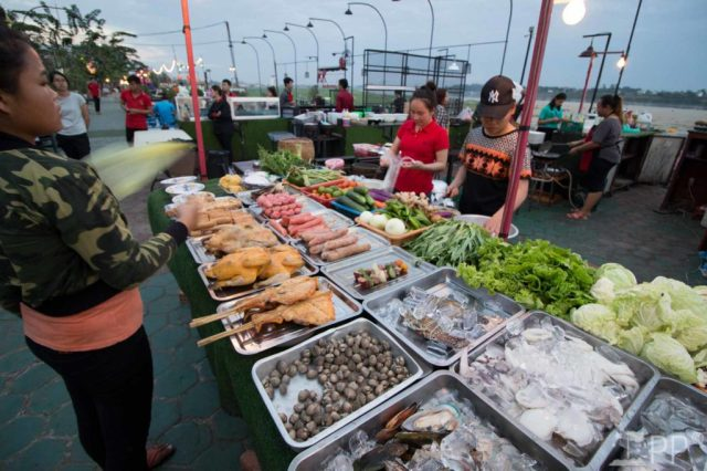 Open table of fresh seafood ingredients