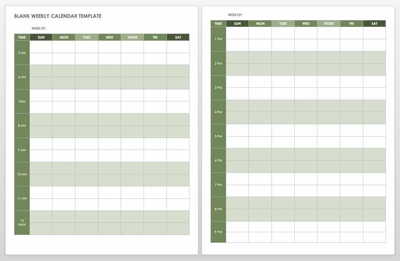 Monthly Calendar Template Sunday First Home T Monthly