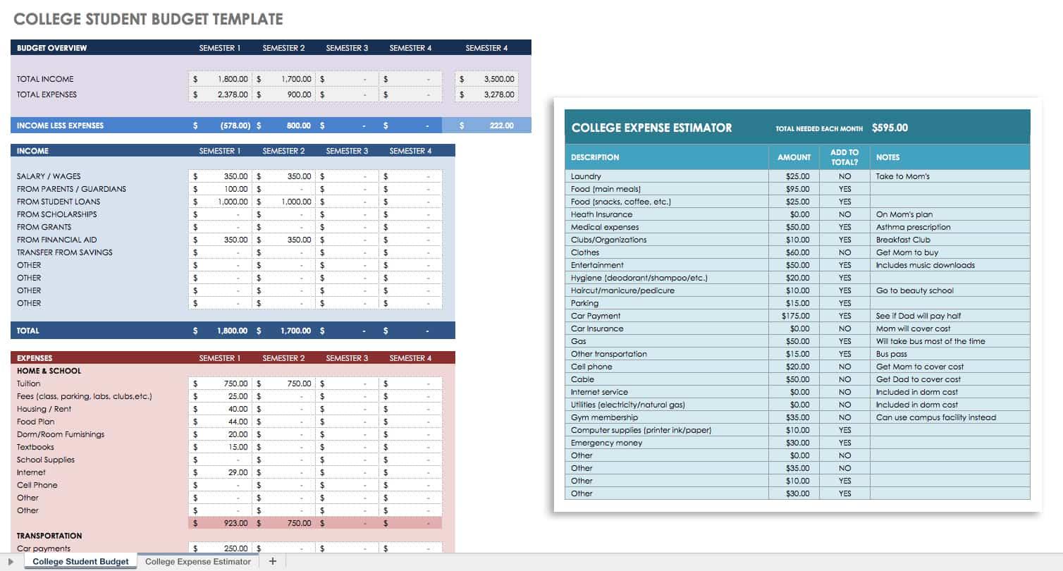 Sample Financial Planning Worksheet