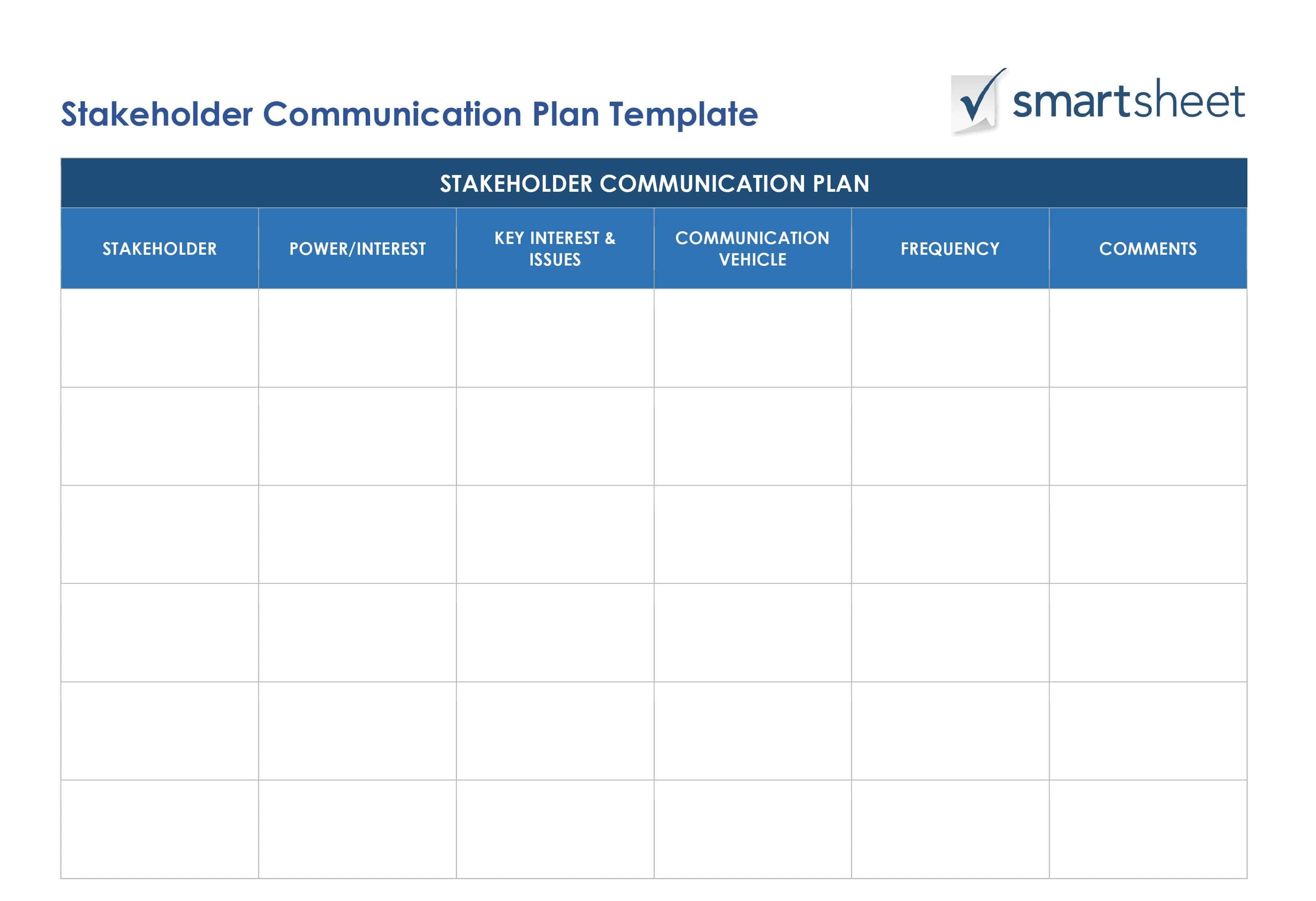 Definitive Guide To Stakeholder Management Smartsheet