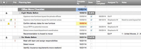 Office Move Checklist Template | Smartsheet
