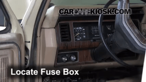 Interior Fuse Box Location: 19831986 Ford F250  1984