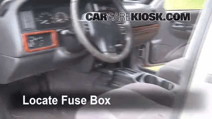 Interior Fuse Box Location 1993 1998 Jeep Grand Cherokee Zj On 31ss