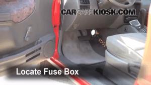 Interior Fuse Box Location: 19992004 Chevrolet Tracker