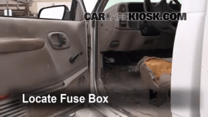 Interior Fuse Box Location: 19902000 GMC C3500  2000 GMC C3500 Sierra SL 74L V8 Extended Cab