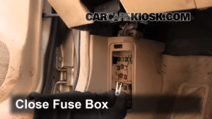 Interior Fuse Box Location: 19992003 Mazda Protege  2000