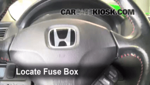 Interior Fuse Box Location: 20012005 Honda Civic  2003