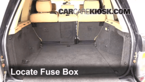 Interior Fuse Box Location: 20032012 Land Rover Range Rover  2004 Land Rover Range Rover HSE 4