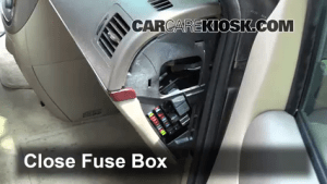 Interior Fuse Box Location: 20052007 Buick Terraza  2005 Buick Terraza CX 35L V6