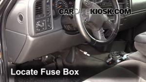 Interior Fuse Box Location: 19992007 GMC Sierra 2500 HD  2004 GMC Sierra 2500 HD 60L V8