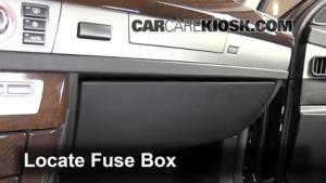 Interior Fuse Box Location: 20022008 BMW 745i  2004 BMW 745i 44L V8