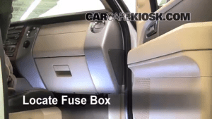 Interior Fuse Box Location: 20072017 Ford Expedition