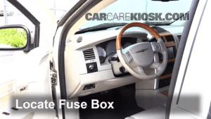 Interior Fuse Box Location: 20072009 Chrysler Aspen  2008 Chrysler Aspen Limited 57L V8