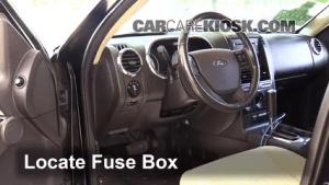 Interior Fuse Box Location: 20072010 Ford Explorer Sport