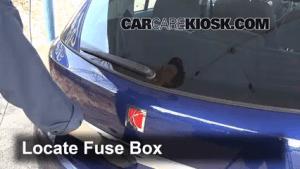 Interior Fuse Box Location: 20082008 Saturn Astra  2008 Saturn Astra XR 18L 4 Cyl (4 Door)