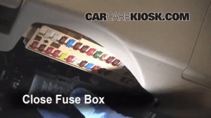 Interior Fuse Box Location: 20072011 Toyota Camry  2008 Toyota Camry LE 24L 4 Cyl