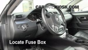 Interior Fuse Box Location: 20092017 Volkswagen CC  2009 Volkswagen CC Luxury 20L 4 Cyl Turbo
