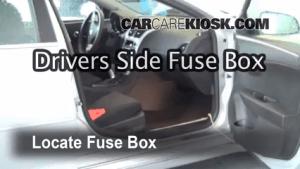 Interior Fuse Box Location: 20082012 Chevrolet Malibu  2010 Chevrolet Malibu LT 24L 4 Cyl