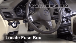Interior Fuse Box Location: 20102016 MercedesBenz E350