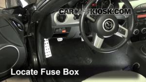 Interior Fuse Box Location: 20062015 Mazda MX5 Miata  2011 Mazda MX5 Miata Grand Touring 2