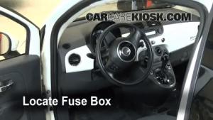 Interior Fuse Box Location: 20122019 Fiat 500  2012 Fiat 500 c Pop 14L 4 Cyl