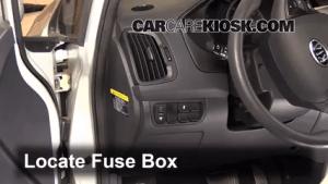 Interior Fuse Box Location: 20122012 Kia Rio5  2012 Kia Rio5 LX 16L 4 Cyl