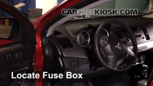 Interior Fuse Box Location: 20082017 Mitsubishi Lancer  2008 Mitsubishi Lancer GTS 20L 4 Cyl