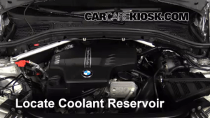 Coolant Level Check: 20112017 X3  2013 BMW X3 xDrive28i