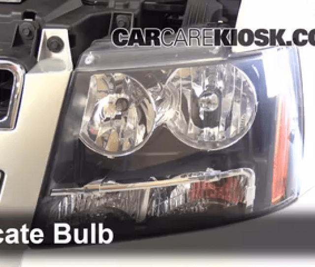 2013 Chevrolet Tahoe Lt 5 3l V8 Flexfuel Lights Headlight Replace Bulb
