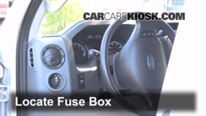 Interior Fuse Box Location: 20082014 Ford E350 Super Duty  2013 Ford E350 Super Duty XLT 5